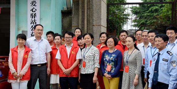 天长政协委员视察调研志愿服务工作献计出力